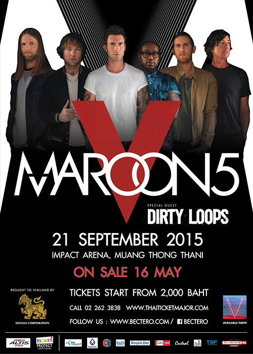 Maroon 5 World Tour 2015 Live in Bangkok