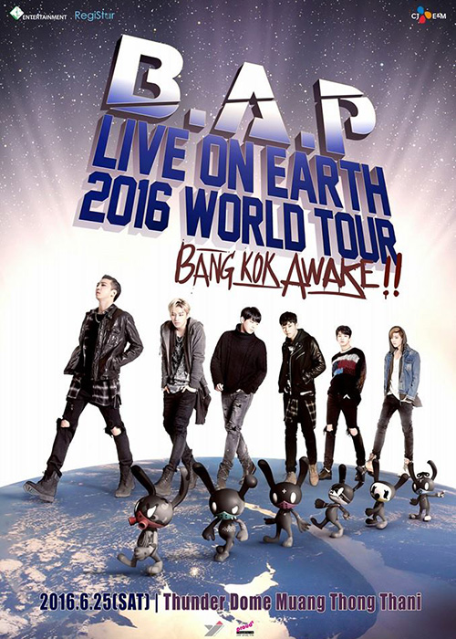 B.A.P LIVE ON EARTH 2016 WORLD TOUR BANGKOK AWAKE!!