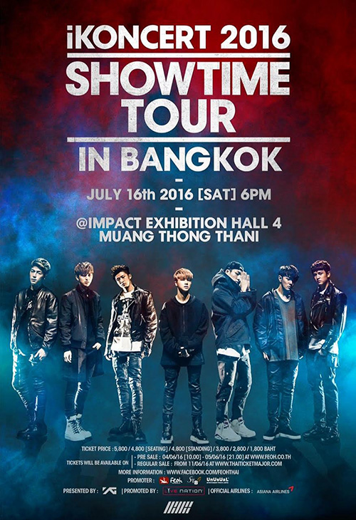 iKONCERT 2016 'SHOWTIME TOUR' IN BANGKOK