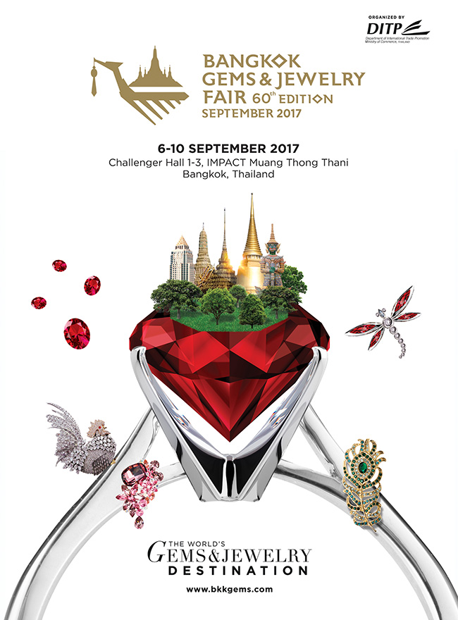 Bangkok Gems & Jewelry Fair 60th Edition September 2017