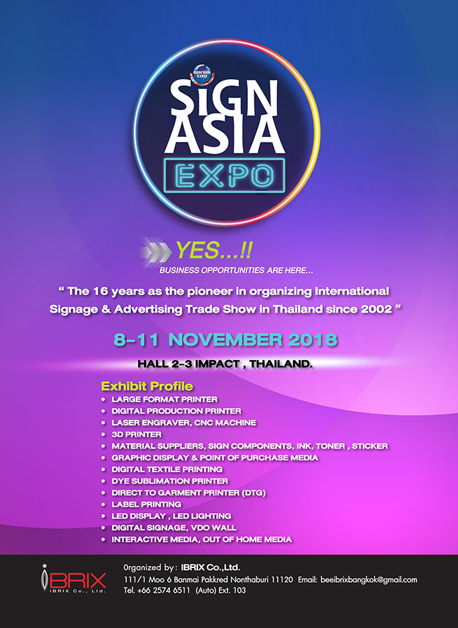 sign asia expo 2018 bangkok led digitlal sign 2018 in conjunction with apppexpo thailand