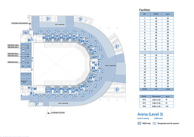 Arena Floor Plan Click Here To Display Larger Map