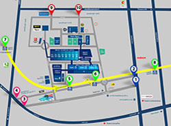 How to get to IMPACT Exhibition แผนที่เส้นทางเดินรถ